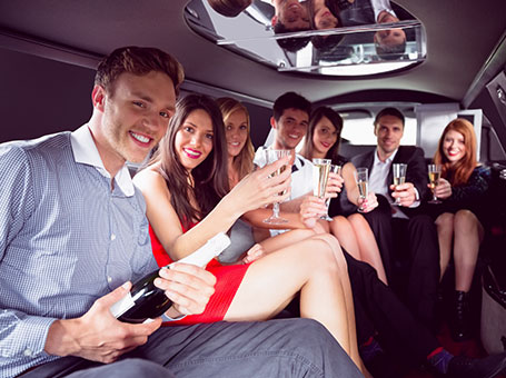 Large Group In a Limo